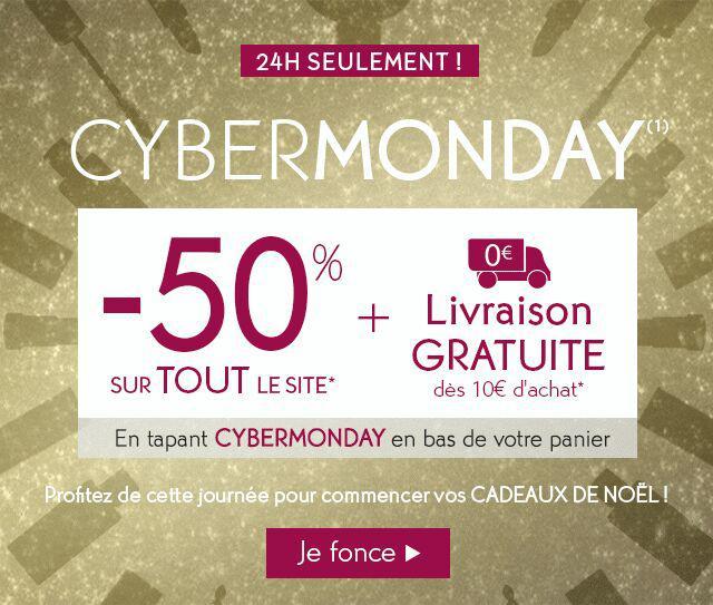 50% de réduction sur tout le site + Livraison offerte dès 10€ d'achat