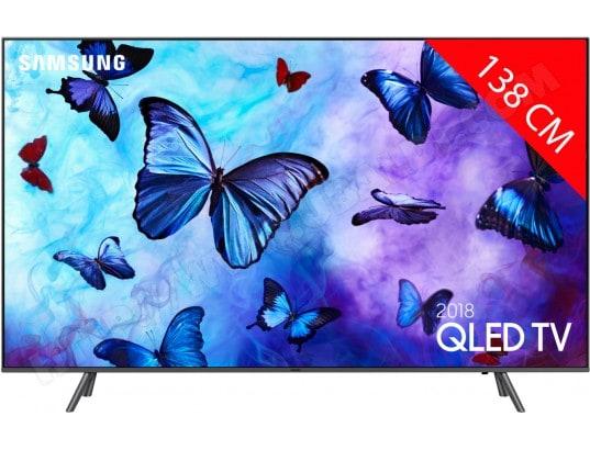 """TV 55"""" Samsung QE55Q6F 2018 - QLED, 4K, Ecran Quantum Dot, Smart TV"""