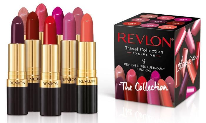 Lot de 9 Rouges à lèvres Super Lustrous de Revlon - Nude Edition