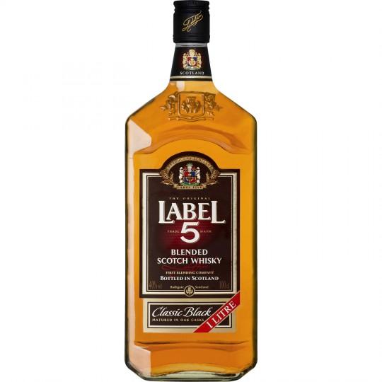 Bouteille de Whisky Label 5 Classic Black - 1 L (via 5.26€ sur carte fidélité + BDR)
