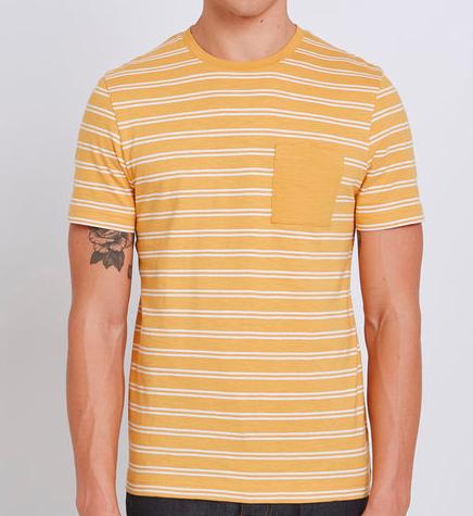 Jusqu'à 69% de réduction sur une sélection d'articles - Ex : Tee shirt marinière col rond avec poche
