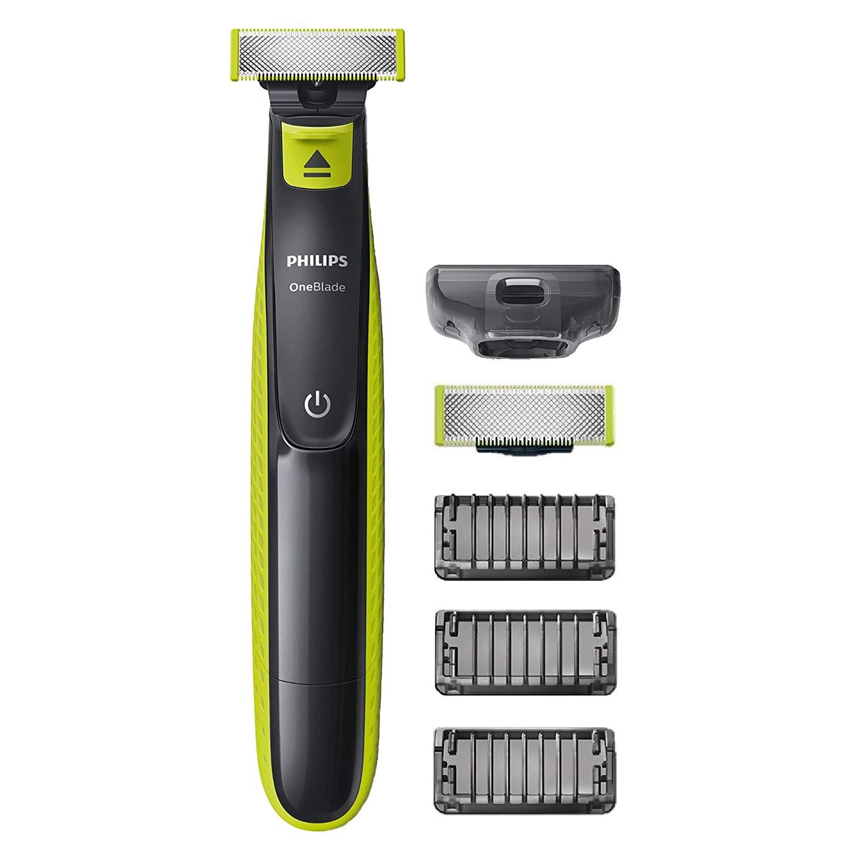 Rasoir Philips QP2520/30 OneBlade + 3 sabots barbe (+ lame de rechange)