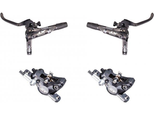 Paire de freins à disques hydrauliques Shimano Freins XT Avant/Arrière BR-M8000 + Plaquettes en Résine G02A (bike-components.de)