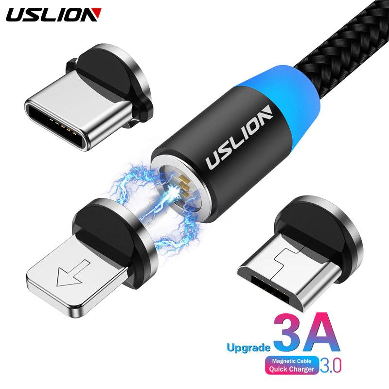 Câble USB 3A charge rapide magnétique (avec aimant)