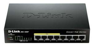 Switch Gigabit D-Link DGS-1008P - 8 ports 10/100/1000 Mbps dont 4 ports PoE