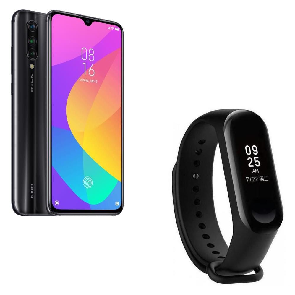 "Smartphone 6.39"" Xiaomi Mi 9 Lite (OLED Full HD+, Snapdragon 710, RAM 6 Go, ROM 64 Go) + Bracelet connecté Xiaomi Mi Band 3"