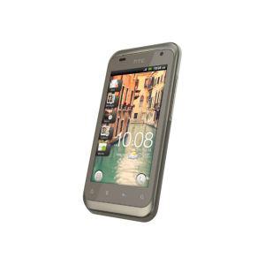 Smartphone HTC Rhyme Sable avec station d'accueil + kit oreilette et housse en cuir