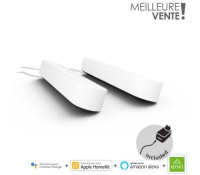 Pack de 2 Lampes connectées Philips Hue Play + 1 Lampe Extension - Blanc