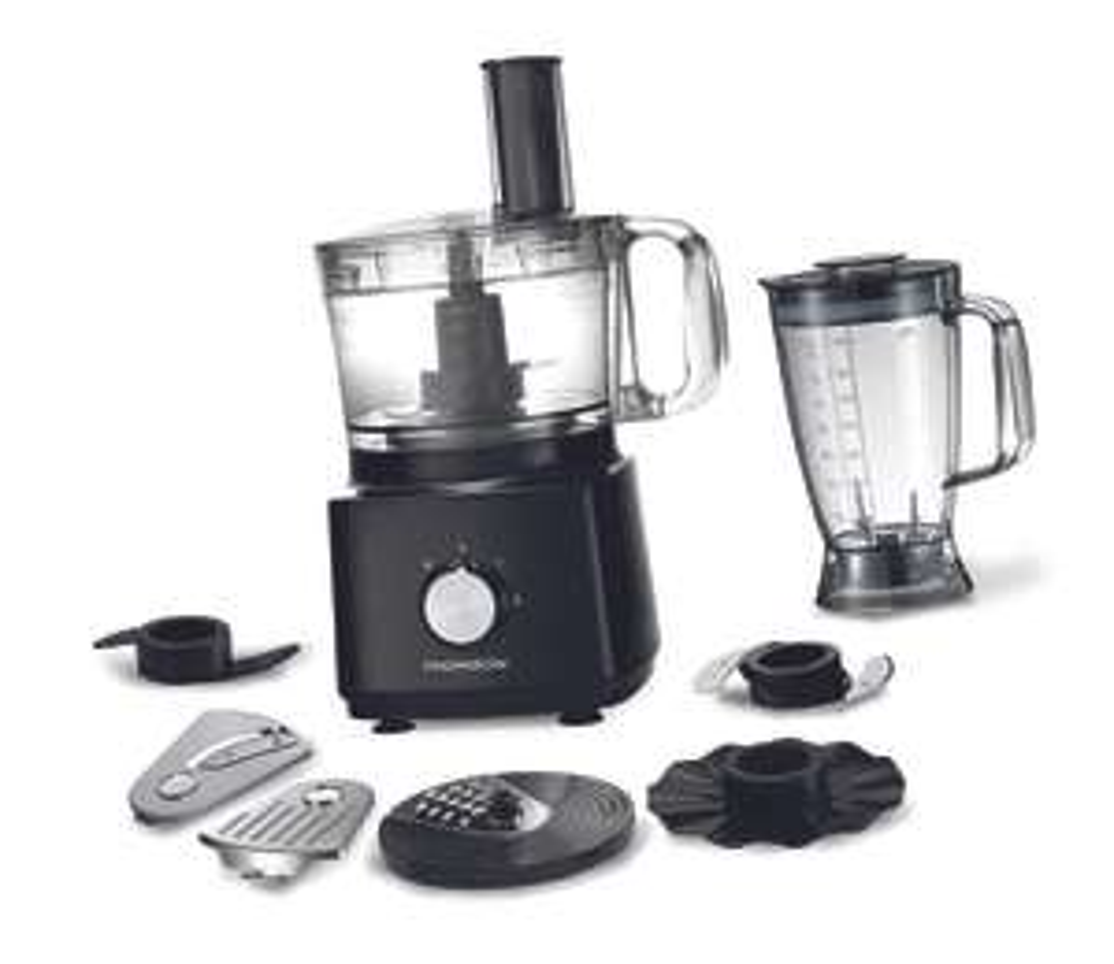Robot de cuisine multifonction Thomson THFP875BN - avec blender et accessoires, 750 W