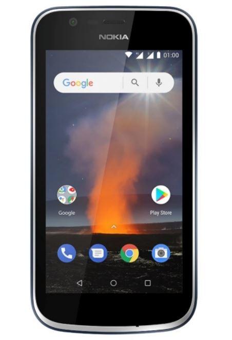 """Smartphone 4.5"""" Nokia 1 - Ecran qHD, 8 Go ROM, MT6737M, Batterie amovible 2150 mAh, Bleu"""