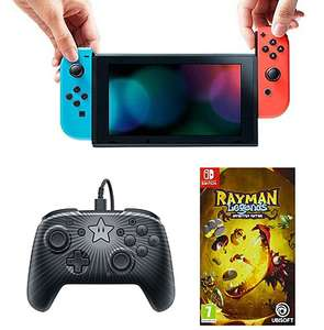 Console de jeu Nintendo Switch + manette filaire Super Mario + jeu Rayman Legends