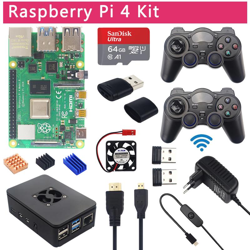 Kit retro gaming Raspberry Pi 4 - 4Go de RAM + Accessoires
