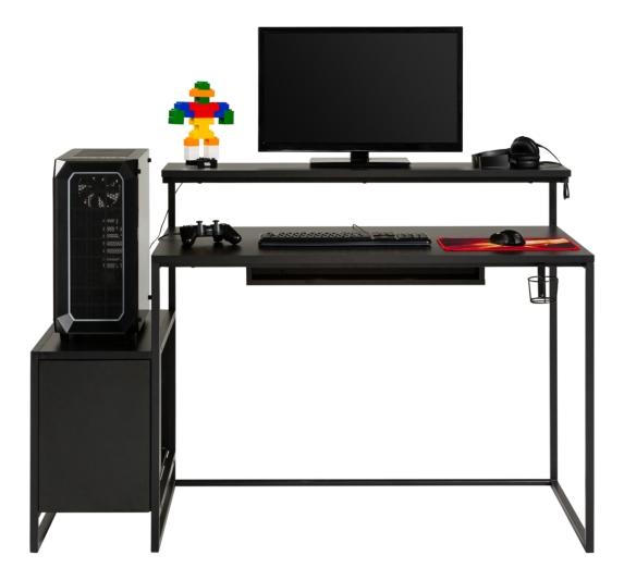 Bureau LED BXGAMING  Pro Gamer - Noir
