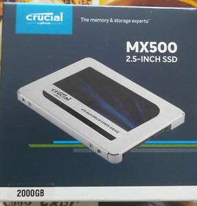 "SSD interne 2.5"" Crucial MX500 (CT2000MX500SSD1) - 2To"