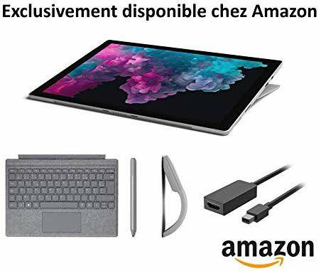 """[Prime Students] PC Portable 2-en-1 12.3"""" Microsoft Surface Pro 6 - i5, RAM 8Go, SSD 128Go, Windows 10 + Accessoires (1249€ pour tous)"""