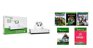 Pack console Microsoft Xbox One S All-Digital (1 To) + Anthem + FIFA 20 + Fortnite + Minecraft + Sea of Thieves (dématérialisés)