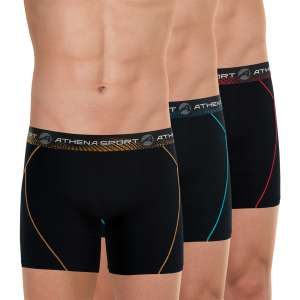 Lot de 3 boxers Athena Sport Training long Microfibre (athenashop.fr)