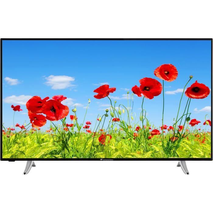 "TV LED 55"" Continental Edison celed55sbf19b3 - 4K UHD, 3x HDMI, 2x USB"