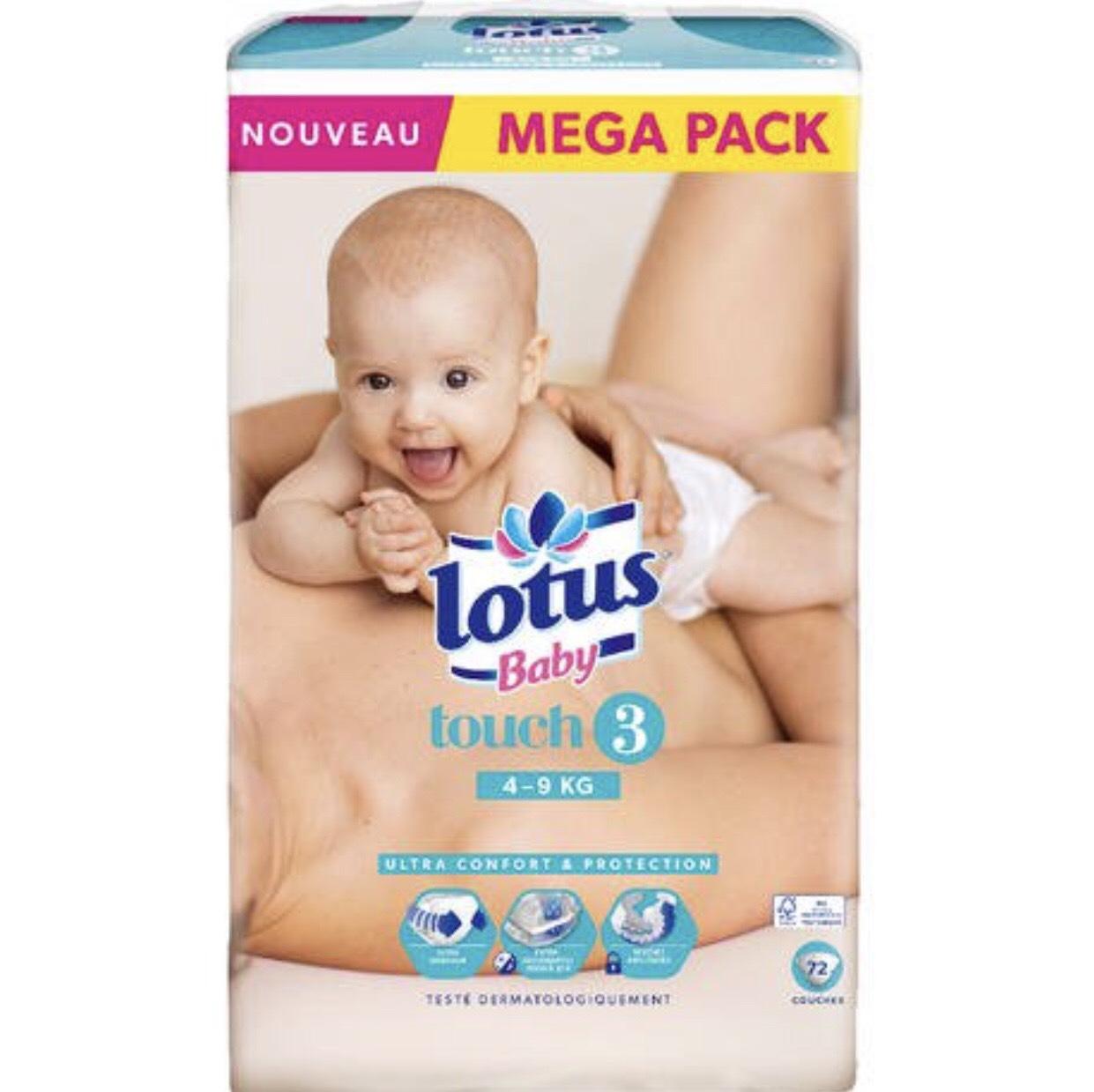 Paquet de couches Lotus Baby Natural Touch (différentes quantités et tailles) - Sarrebourg (57)