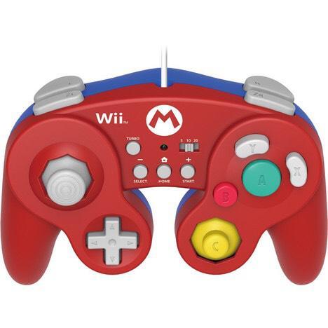 Manette gamecube mario pour Wii U