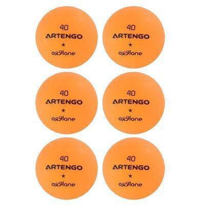Lot de 6 balles de ping-pong Artengo FB800