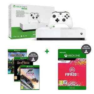 Xbox One S All Digital 1 To + 5 Jeux : FIFA 20 + Minecraft + Sea of Thieves + Forza 3 (Jeux dématérialisés) + APEX (code de jeu)
