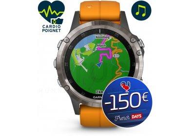 Montre GPS Garmin Fenix 5 Plus Silver Titane Sapphire