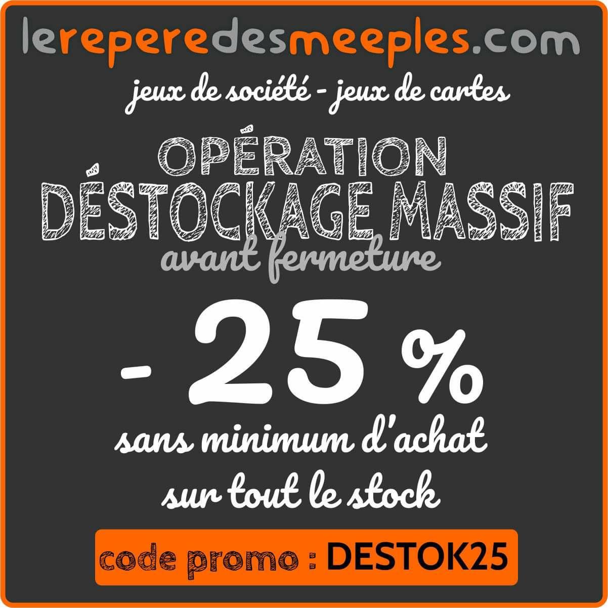 25% de réduction sur tout le site (lereperedesmeeples.com)