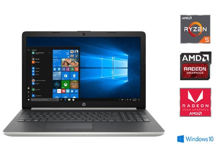 "PC Portable 15"" HP 15-DB0003NF - Ryzen 5 2500U, HDD 1To, SSD 128 Go, RAM 8Go, AMD Radeon Vega 8, Windows 10 (+30€ en Bon d'achats)"