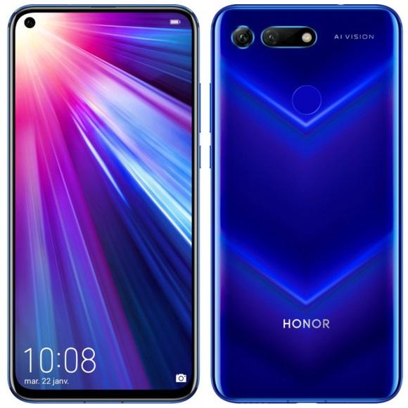 "Smartphone 6.4"" Honor View 20 - Full HD+, Kirin 980, RAM 6 Go, 128 Go + 30€ de bon d' achat"