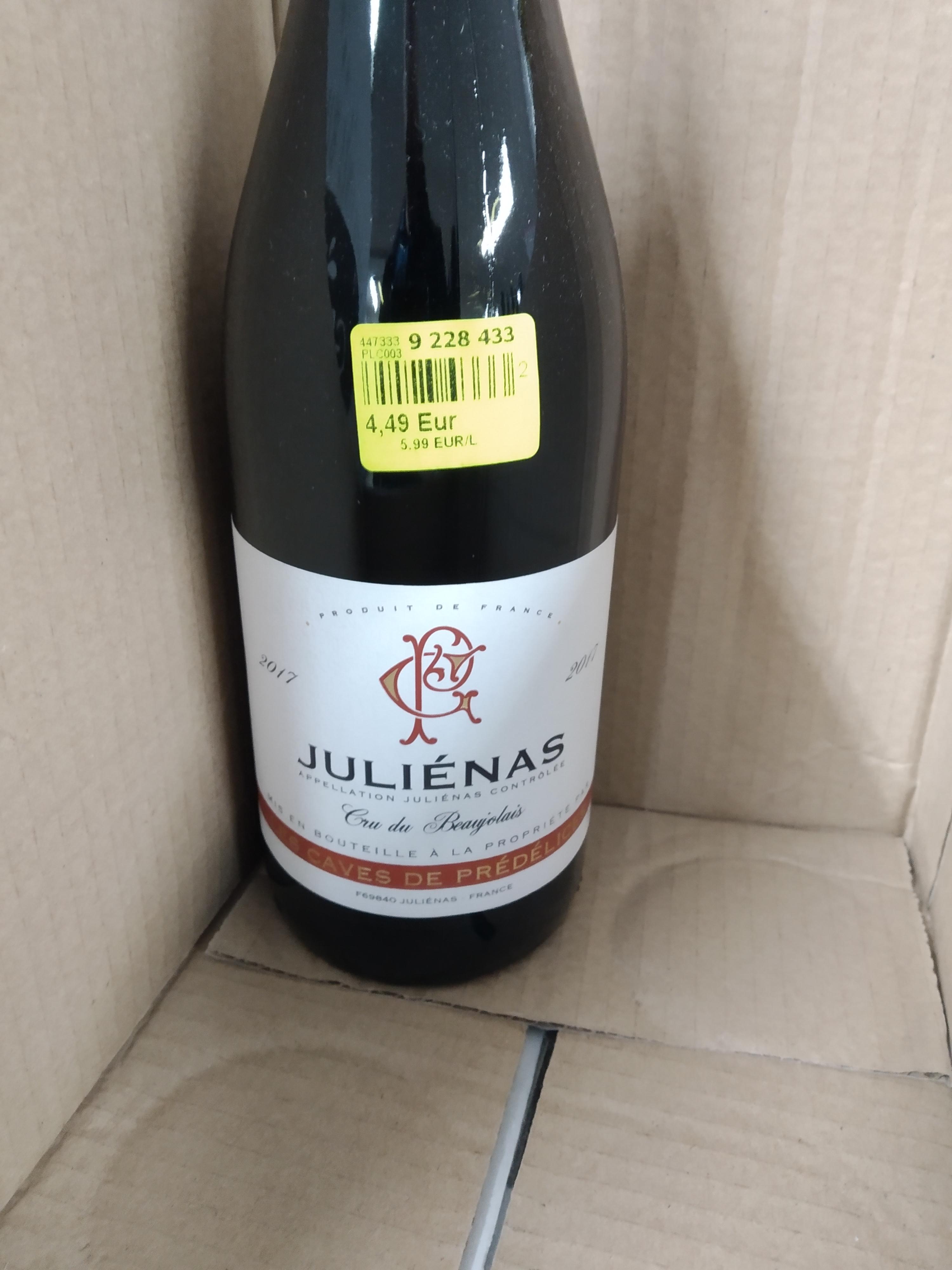 Bouteille de vin Julienas 2017 - Noz à St Génie Pouilly (01)