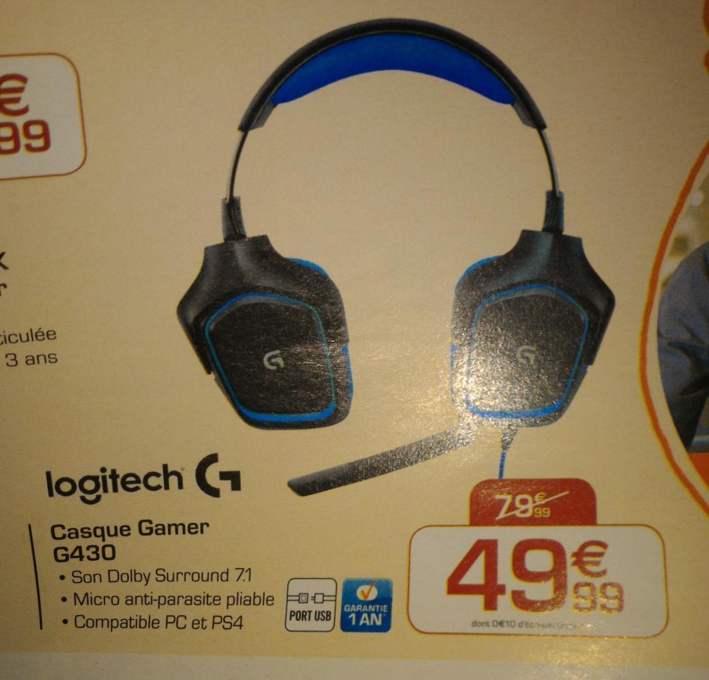 Casque-micro Gamer Logitech G430