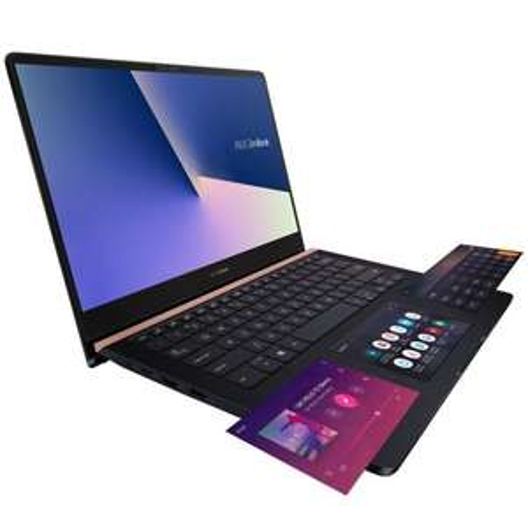 """PC Portable 14"""" Asus ZenBook Pro UX480FD-BE001T - ScreenPad, FHD, i5-8265U, RAM 8Go, SSD 256Go, GTX 1050 2Go, Win 10 + 80€ en bon d'achat"""