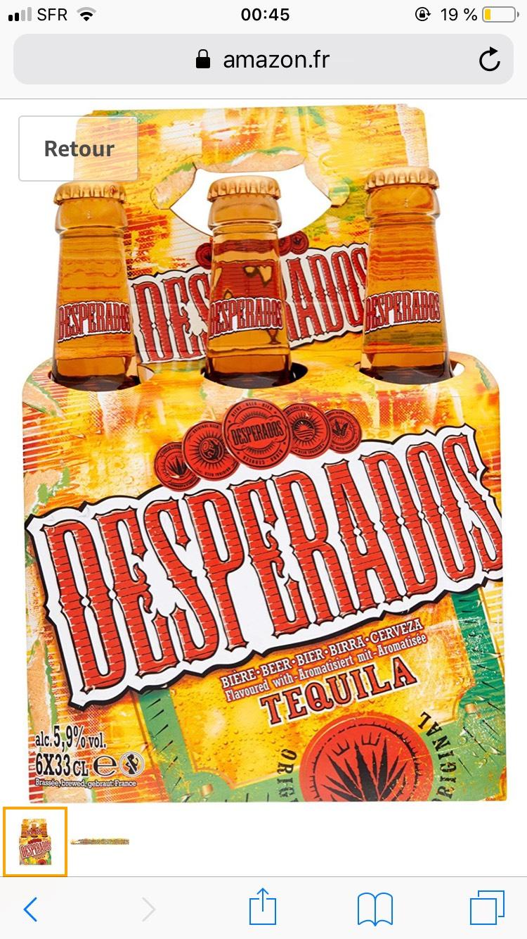Lot de 4 Packs de Bières Desperados - 4 x 12 x 33cl (Via Shopmium)