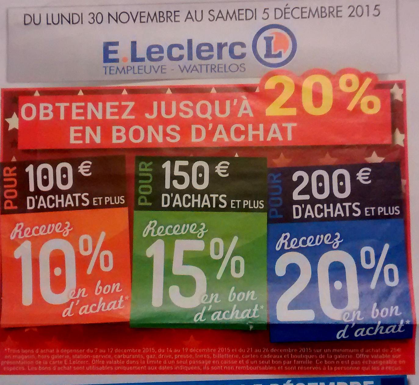 10% de réduction dès 100€ d'achat, 15% dès 150€, 20% de réduction dès 200€ d'achat