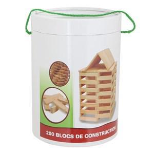 200 Bûchettes de construction en bois naturel