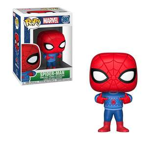 Sélection de figurines POP! en promotion - Ex : Bobble : Holiday Spider-Man With Ugly Sweater