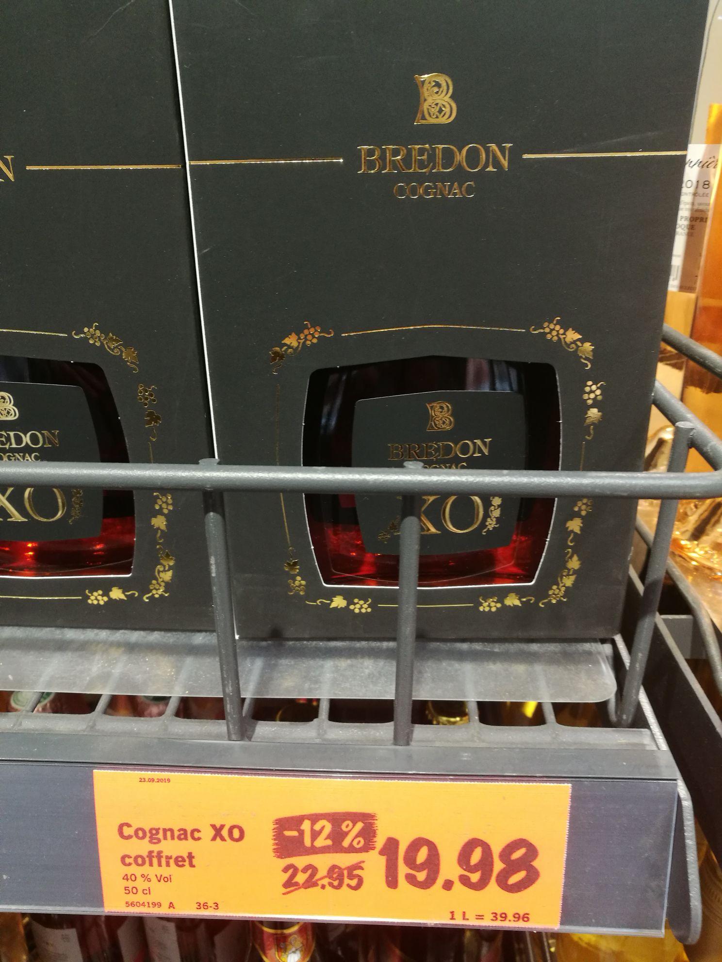 Bouteille de cognac XO Bredon (50 cl)