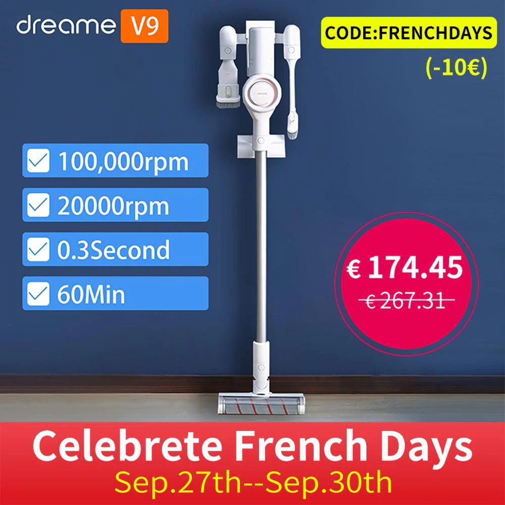 Aspirateur balai Xiaomi Dreame V9 - Entrepôt France (Via coupon vendeur - 173.18€ avec le code FRENCHDAYS)