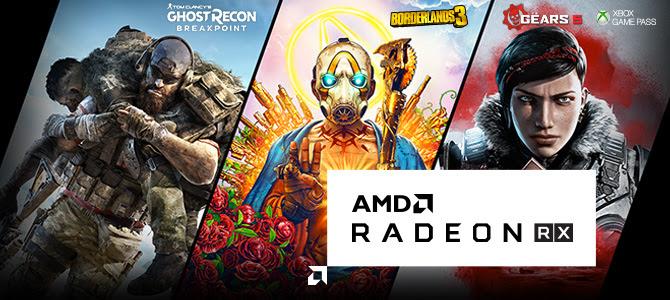 Jeu Offert au choix (Borderlands 3, Tom Clancy's Ghost Recon Breakpoint ou The Outer Worlds) pour 1 composant AMD acheté parmi une sélection