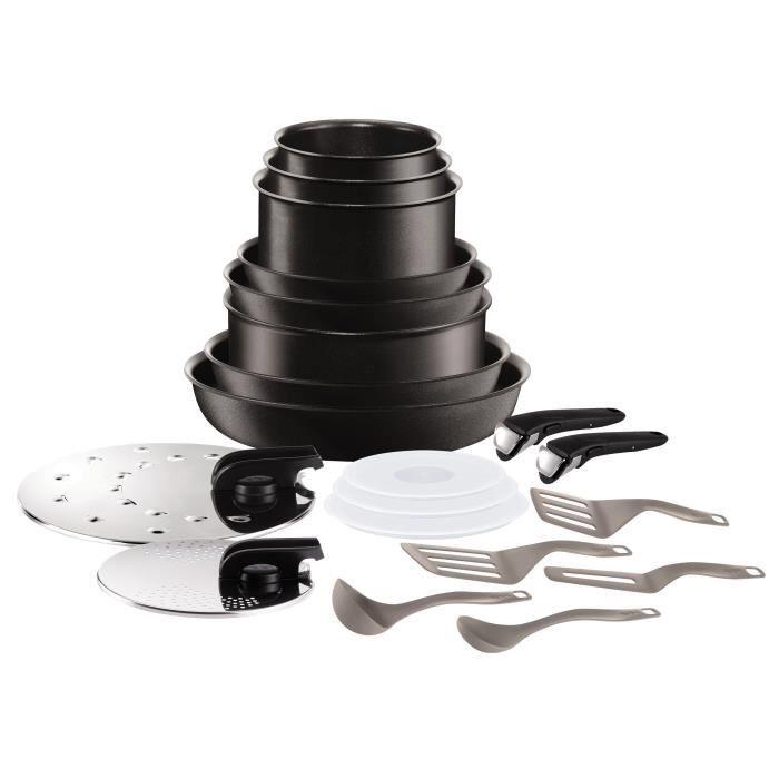 Batterie de cuisine Tefal Ingenio Performance L6549802 - 20 pièces, Tous feux dont induction