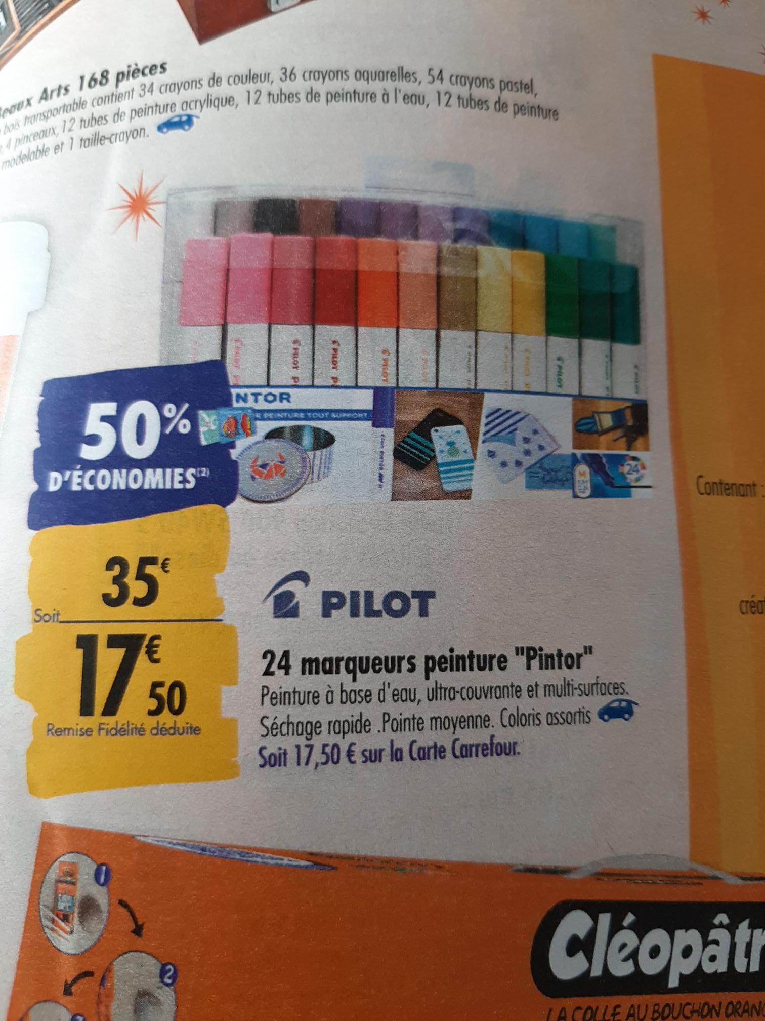 24 marqueurs peinture Pilot Pintor (via 17.50€ sur la carte de fidélité)