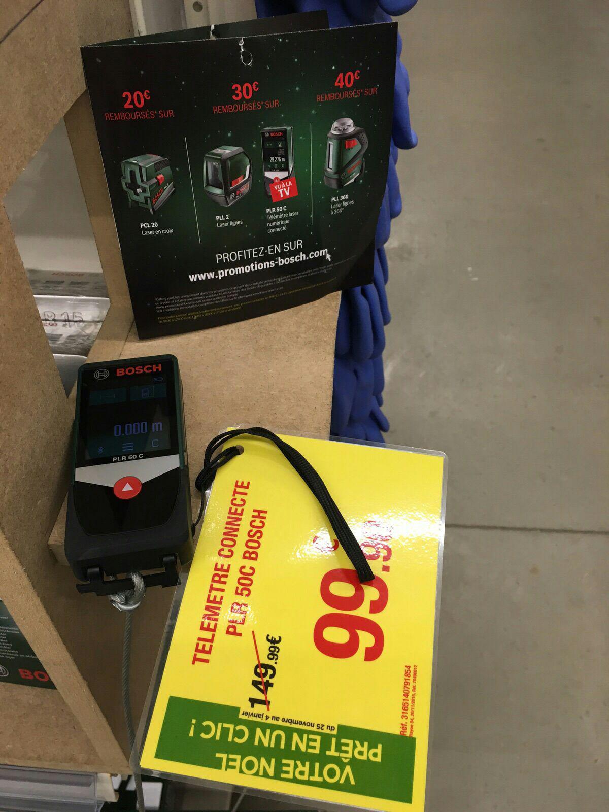 Télémètre Bosch PLR 50C (via ODR 30€)