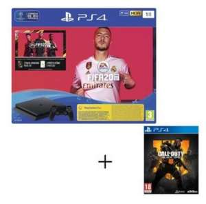 Console Sony PS4 Slim 1 To + FIFA 20 + Call Of Duty Black Ops 4 + Abonnement PS+ de 14 Jours