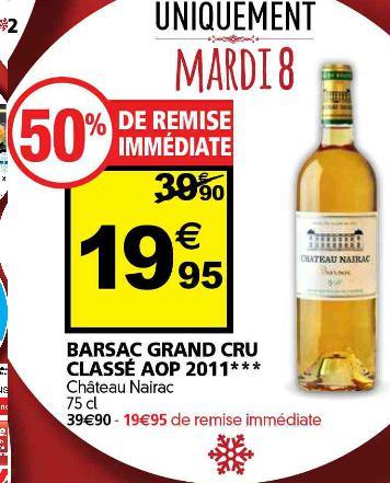 Bouteille de vin Chateau Nairac 2011