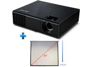 Vidéoprojecteur Acer X111 3D Ready SVGA 2700 Lumens + écran de projection manuel 4/3 220 cm 87'' M87-S01MW