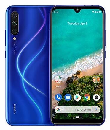"""Smartphone 6.09"""" Xiaomi Mi A3 - HD+, SnapDragon 665, 4 Go de RAM, 64 Go, bleu (+ 92.74€ en SuperPoints)"""