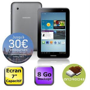 "Tablette Samsung Galaxy Tab 2 7"" (Avec ODR de 30€) + 44€ en 3 bons d'achat"