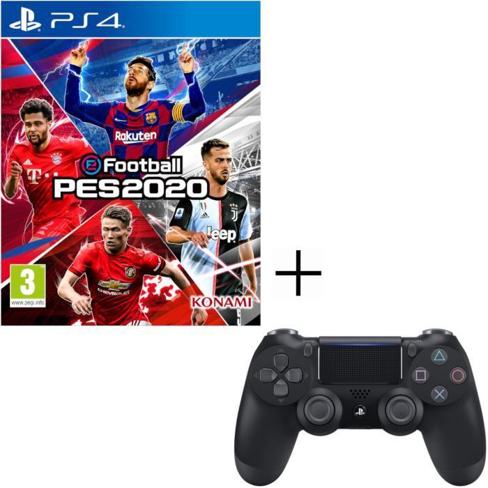 eFootball PES 2020 sur PS4 + Manette PS4 Dualshock 4 + 500 Vbucks + Skin artilleur royal Fortnite