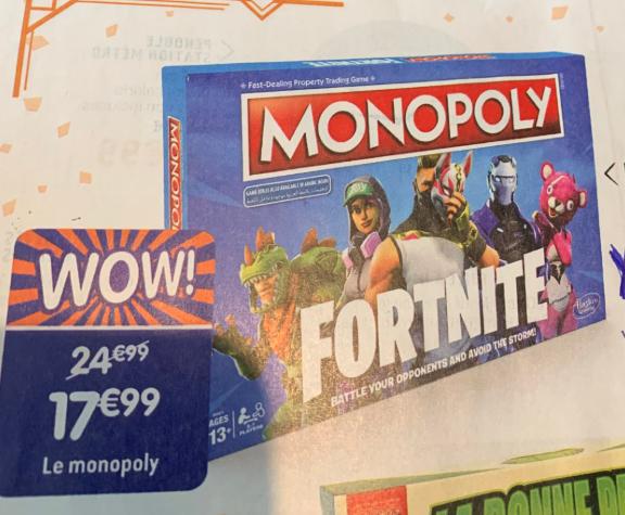 Jeu de société Monopoly Fortnite